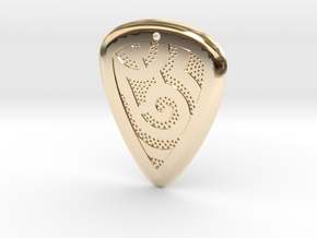Windpick (1.75mm thick) in 14K Yellow Gold