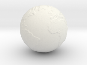 Earth Hollow Size 2 in White Natural Versatile Plastic