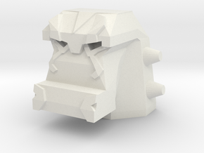 Lockjaw Head (5mm port) in White Natural Versatile Plastic