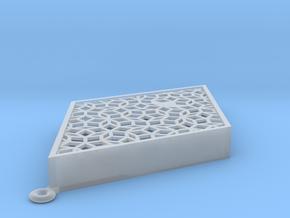 Penrose Mezuzah (fat rhomb) in Smooth Fine Detail Plastic