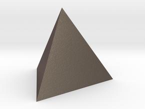 Tetrahedron 4er 20mm in Polished Bronzed Silver Steel