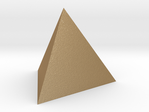 Tetrahedron 4er 20mm in Matte Gold Steel