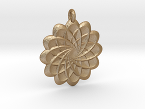 Flower Pendant in Matte Gold Steel
