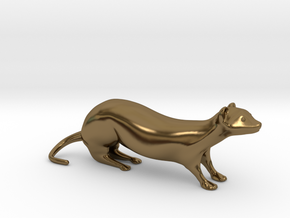 The Weasel Desk Toy in Polished Bronze