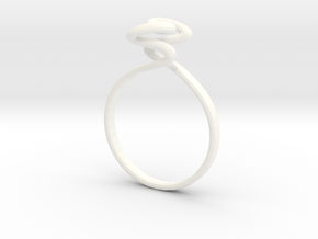 Torus Ring Size US 6 (16.5mm) in White Strong & Flexible Polished