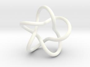 Funny Star Pendant in White Processed Versatile Plastic