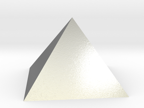 Pyramid Square Johnson J1 20mm  in Natural Silver