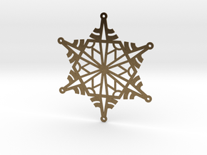 Arcs Snowflake - Flat in Natural Bronze