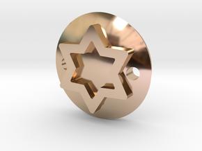 Maguen David bracelet in 14k Rose Gold