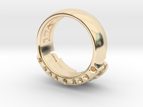 US14 Ring VI: Tritium in 14K Yellow Gold