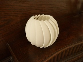 Lamella - Tea Light in White Natural Versatile Plastic