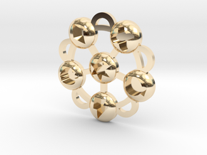 Elements Of Harmony Medallion in 14K Yellow Gold