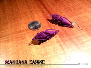 Mandana Earings in Purple Strong & Flexible Polished