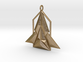 Rocket House Pendant in Polished Gold Steel
