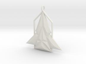 Rocket House Pendant in White Natural Versatile Plastic