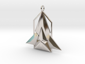Rocket House Pendant in Platinum