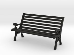 Park Bench 1:20 Scale in Black Natural Versatile Plastic