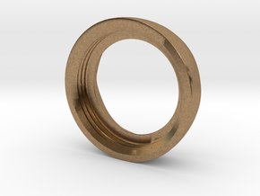 Ag Torch: Brass Bezel Ring (3 of 4) in Natural Brass