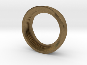 Ag Torch: Brass Bezel Ring (3 of 4) in Natural Bronze