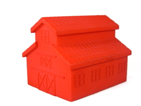Barn, One Side Open in Red Processed Versatile Plastic