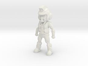 Primacron homage Space Monkey 2.75inch Transformer in White Natural Versatile Plastic