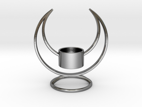 Solstice Candle Holder  in Polished Silver