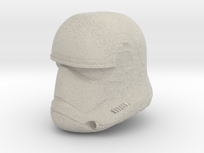 Miniature Episode 7 StormTrooper Helmet in Natural Sandstone