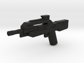 Burst Rifle  in Black Natural Versatile Plastic