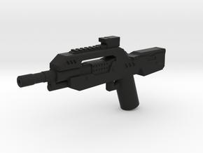 Burst Rifle  in Black Natural Versatile Plastic