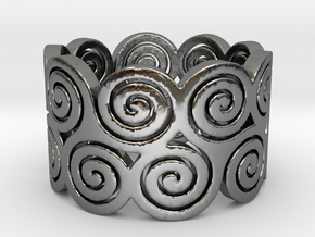 Triskelion Ring Ring Size 7 in Premium Silver
