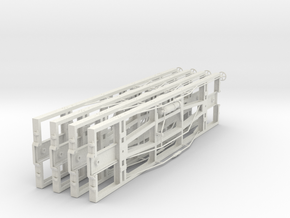 VR narrow gauge 19' underframe in White Natural Versatile Plastic