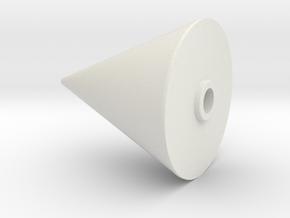 JP Rocket Nose Cone in White Natural Versatile Plastic