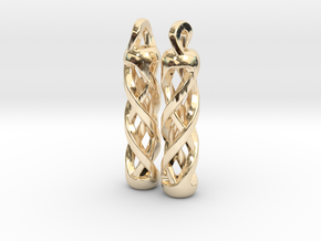 Tritium Earrings 1 (All Materials) in 14K Yellow Gold