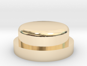 Fire Button - All Materials in 14K Yellow Gold