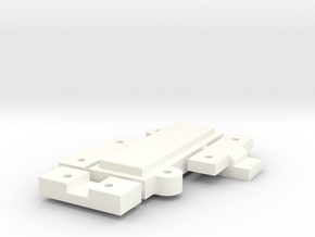Clamps for Mounting Plates - With USB in White Processed Versatile Plastic
