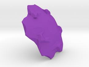 3D Tile1 in Purple Processed Versatile Plastic