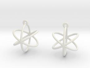 Orbit Earrings in White Natural Versatile Plastic