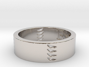 Explorers Ring Size 11 Kris Kitchen in Platinum