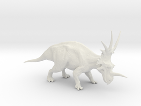 Styracosaurus 1:40 scale model in White Natural Versatile Plastic