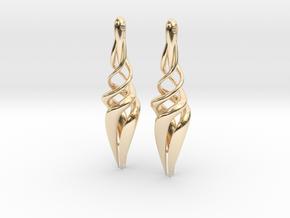 Trust Earings in 14K Yellow Gold