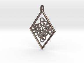Elegant Pendant in Polished Bronzed Silver Steel
