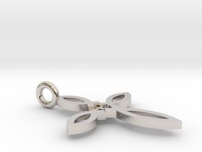 Ichthus Cross Pendant in Platinum