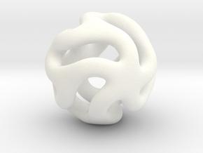 Starfish Kanga Pendant in White Processed Versatile Plastic