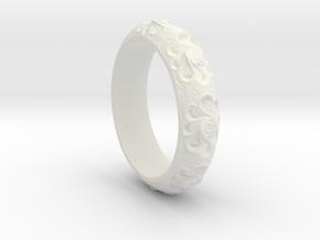 Perfect Bangle in White Natural Versatile Plastic