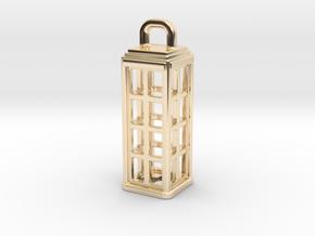 Tardis Lantern 1: Tritium (All Materials) in 14K Yellow Gold