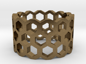 Honeycomb Ring Size 9 in Natural Bronze