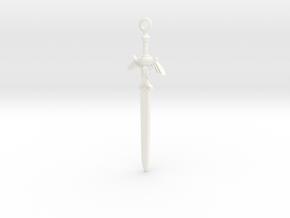 Master Sword Pendant in White Processed Versatile Plastic