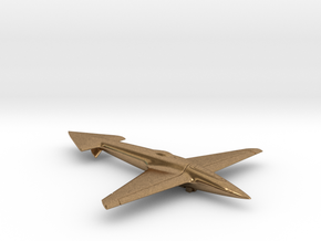 Uni-Dir Slim Plane Toy (88mm long) in Natural Brass