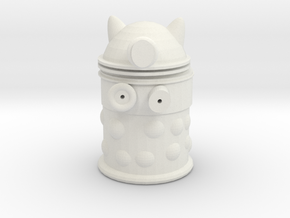 Dalek from Dr Who in White Natural Versatile Plastic