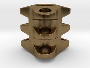 Triple Tritium Bead 1 (2.5x10mm Vials) in Natural Bronze